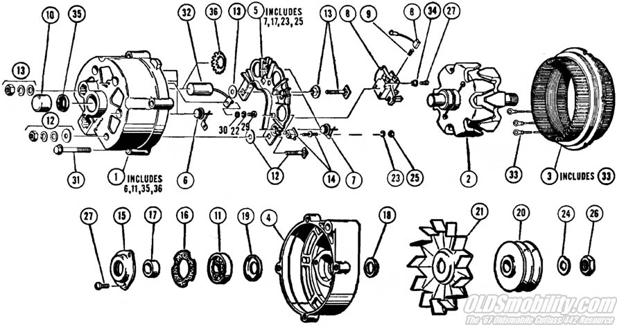ELECTRICAL EQUIPMENT AND WIRING 188 DIESEL ENGINE USED W AL TERNATOR 1ST USED TRAC S N 8656686 0YXn moreover Delcotron05 in addition RepairGuideContent likewise RepairGuideContent additionally 50dn Alternator Diagram. on delcotron alternator