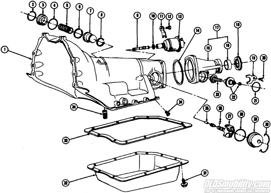 Gm 350 Transmission Diagram