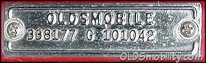 decoding an Oldsmobile cowl tag, refer to the Deciphering The Cowl Tag